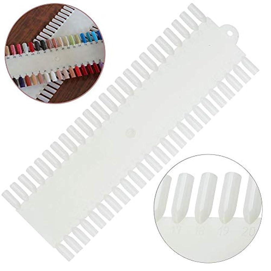 軽く人工モロニック白の48の偽の釘/プラスチックヒント/表示および練習板が付いている良質の専門のネイルアートパレット