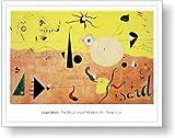 ジョアン ミロ *The Hunter 【ポスター+木製フレーム】約 59 x 74 cm ホワイト