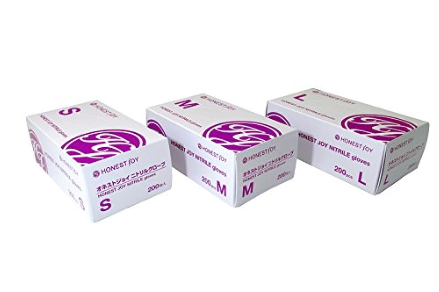 香水熟達騒々しいオネストジョイ ニトリルグローブ Lサイズ 1箱200枚入り