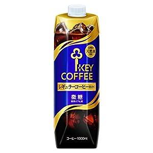 キーコーヒー リキッドコーヒー 天然水 微糖 テトラプリズマ 1L×6本