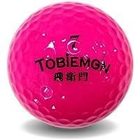TOBIEMON(トビエモン) 飛衛門 【公認キュウ】 ツーピース構造 蛍光ゴルフボール 12キュウ(1ダース) ピンク FLYGADR-PD