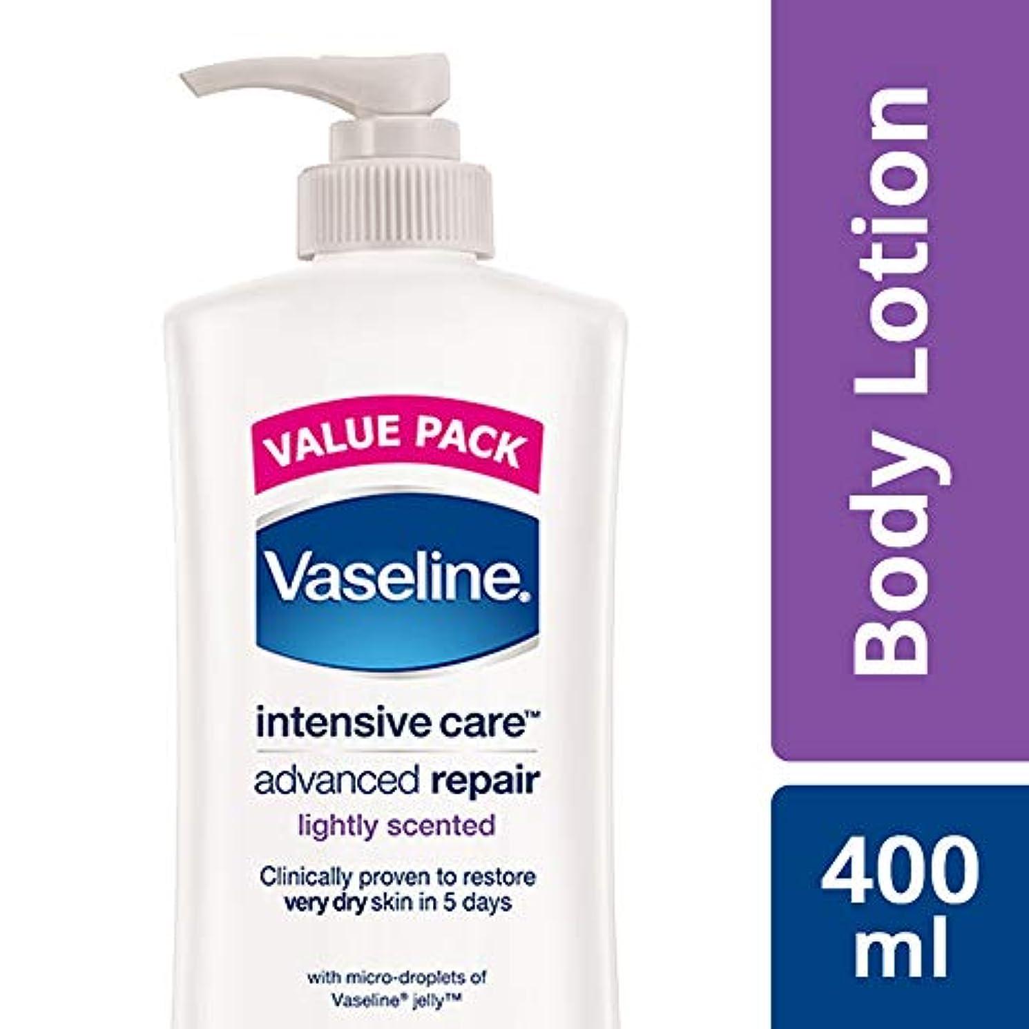 の前で侵入するしたがってVaseline Intensive Care Advanced Repair Body Lotion, 400 ml