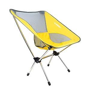 HOMRUS 折りたたみ椅子 アウトドアチェア アウトドア椅子 折りたたみチェア コンパクト 軽量 おしゃれ 背もたれ 便利 耐荷重120KG オックスフォード布製 アルミニウム合金製 通気性 あうとどあ お釣り 登山 花火大会 運動会 キャンプ用椅子 洗濯やすい 座り心地やわらか 収納バッグ付き H-イエロー イエロー