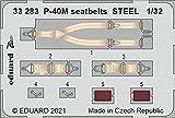 エデュアルド 1/32 ズーム P-40M シートベルト ステンレス製 (トランぺッター用) プラモデル用パーツ EDU33283