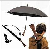 【 注目度No.1! 】ライフル 銃 型 傘 アンブレラ 猟銃 ピストル 拳銃 ブラック (ライフル型)