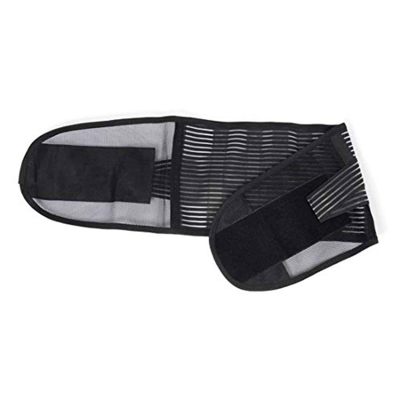 Danankan スチールプレートウエストベルト 夏通気性と快適ウエストベルト ウエスト外傷保護ベルト (色 : 黒, サイズ : M)