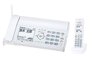パナソニック デジタルコードレスFAX 子機1台付き 1.9GHz DECT準拠方式 ホワイト KX-PD305DL-W