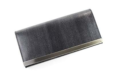 CK カルバンクライン かぶせ長財布 メンズ ブラック calvin086