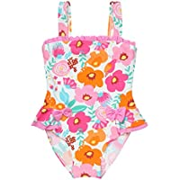 Comfortable Girls Swimwear Girls and Girls Jungle Garden Print Hot Spring Beach One-Piece Swimsuit Smooth (Size : 130cm)