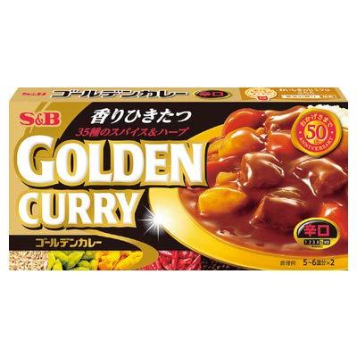 エスビー食品 S&B ゴールデンカレー 辛口 198g×10個入