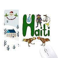 ハイチ島の国家の象徴のランドマークのパターン サンタクロース家屋ゴムのマウスパッド