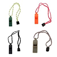 Perfeclan カヤック スキューバ ダイビング キャンプ ハイキング用 プラスチック ホイッスル 呼び子 4本入り