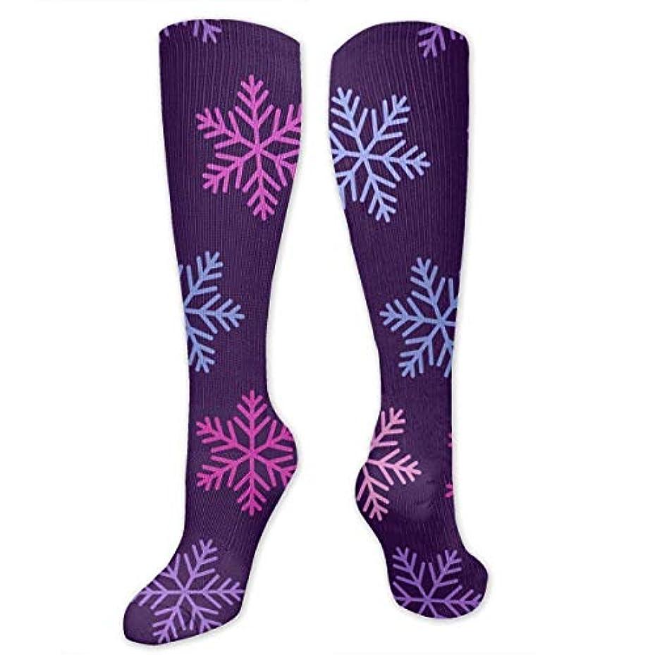 砂モンキー支給靴下,ストッキング,野生のジョーカー,実際,秋の本質,冬必須,サマーウェア&RBXAA Christmas Purple Snowflake Socks Women's Winter Cotton Long Tube Socks...