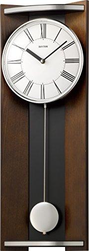 リズム時計 RHYTHM 柱 掛け時計 モダンライフM05 振り子 木 茶 4MPA05RH06