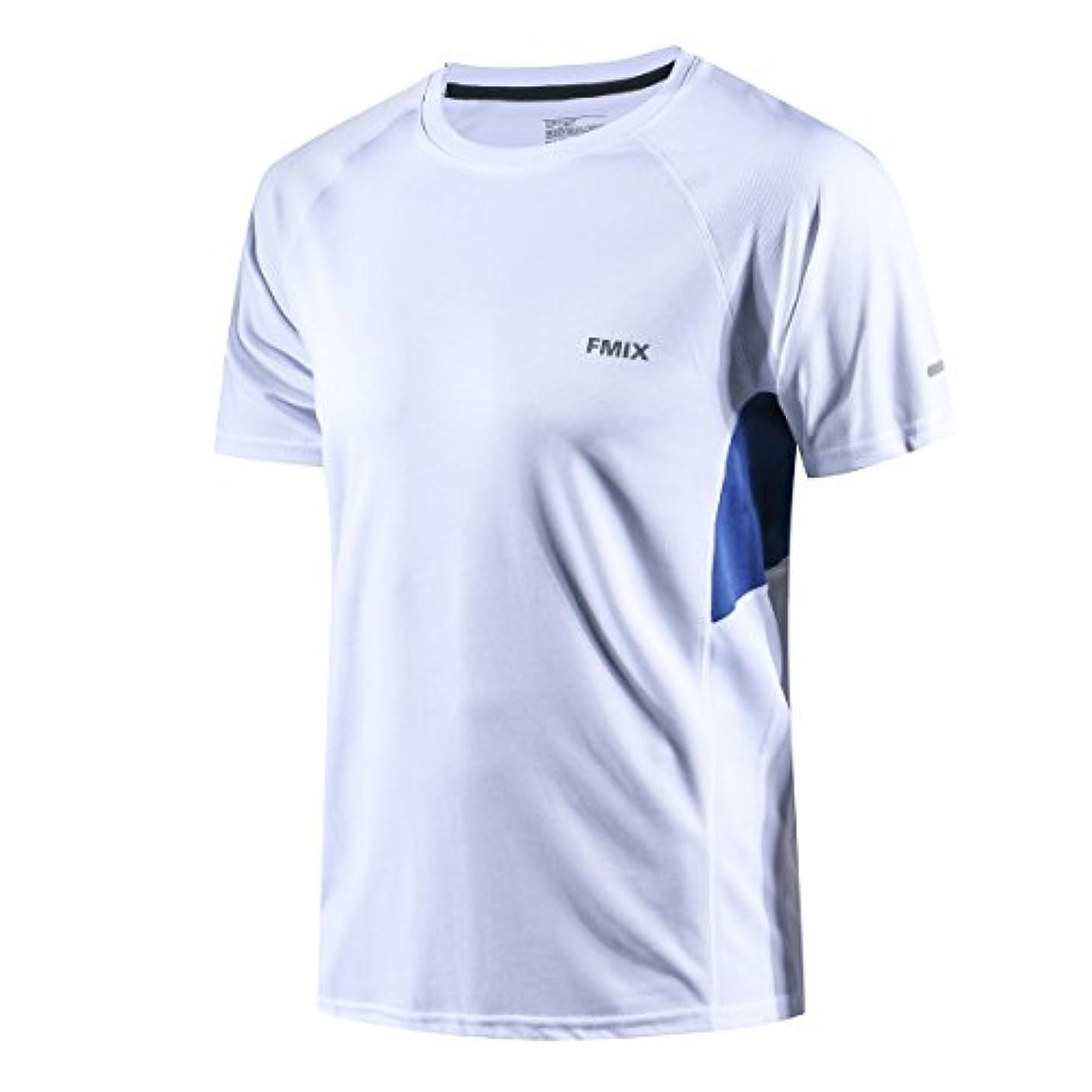 相関するうんざり学習トレーニングウェア Tシャツ メンズ 半袖 スポーツウェア スポーツシャツ 吸汗速乾 通気性 反射素材デザイン 抗菌 防臭