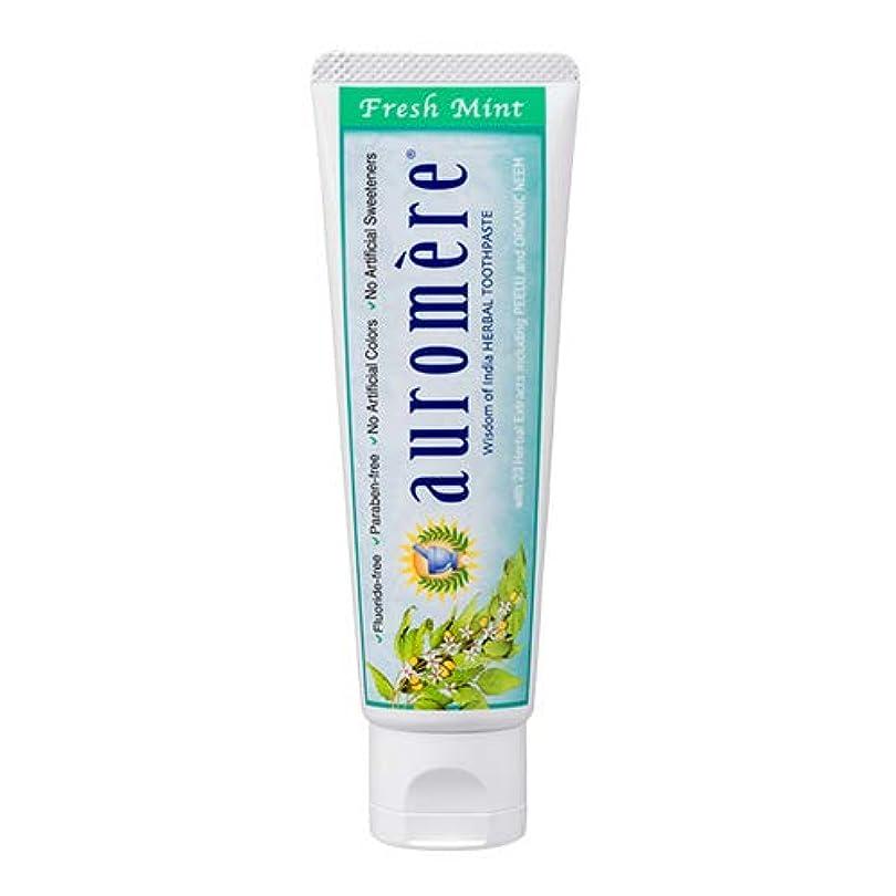 米ドル利得宣言オーロメア 歯磨き粉 フレッシュミント 70g