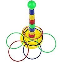 Greensun TMカラフルHoopla Ring Toss Cast円セット教育玩具パズルゲーム子供おもちゃギフト