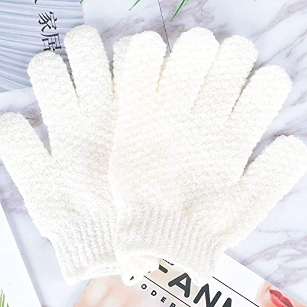 BTXXYJP お風呂用手袋 あかすり シャワー手袋 ボディタオル ボディブラシ やわらか バス用品 角質除去 (Color : GREEN-B)