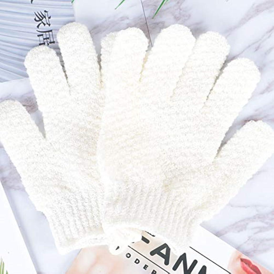 大惨事地上の別にBTXXYJP お風呂用手袋 あかすり シャワー手袋 ボディタオル ボディブラシ やわらか バス用品 角質除去 (Color : GREEN-B)