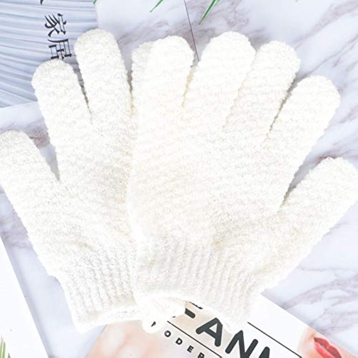 子犬城バラ色BTXXYJP お風呂用手袋 あかすり シャワー手袋 ボディタオル ボディブラシ やわらか バス用品 角質除去 (Color : GREEN-B)