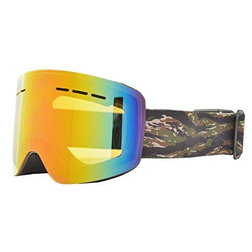 REVERSE EDGE(リバースエッジ) スノーボード ゴーグル ケース付き 平面レンズ ta-goggle-ESG1754-BK-TC