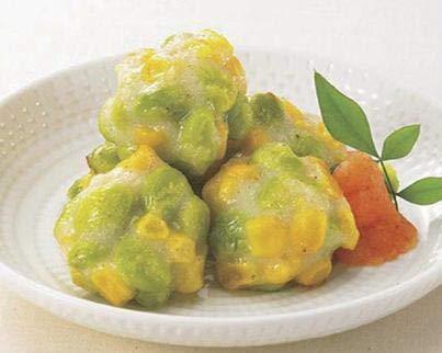枝豆ととうもろこしのつまみ揚げ 1kg (nh103622)