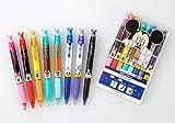 三菱鉛筆 ユニボール R:E/ディズニーシリーズ 8色セット 極細0.38