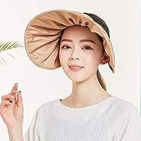 Chuiqingwang 防風登山帽子に乗って帽子の女性の夏のうち太陽の帽子 (Color : Brown, サイズ : M)