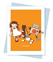 Tea Party Birthday Greeting Card by PaperInk Studio for Girl [並行輸入品]