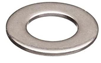 Plain Finish 300 Stainless Steel Flat Washer Pack of 100 0.15 ID Meets NAS 620 #6 Hole Size 0.015 Nominal Thickness 0.27 OD