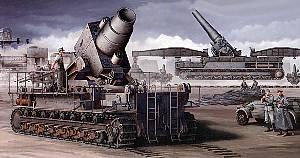 1/35 ドイツ軍 カール重自走臼砲 初期型 鉄道運搬車
