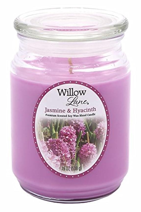 物足りない温室アレルギーキャンドルライトウィローレーン19oz大豆と大豆ワックス - ジャスミン&ヒヤシンス