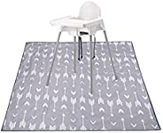 Baby Splat Mat for Under High Chair/Arts/Crafts, Washable Spill Mat Water-Resistant Anti-Slip Floor Splash Mat, Portable Play Mat and Table Cloth 51