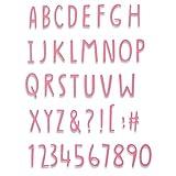 Sizzix Thinlits Die 手書きアルファベット ジェナ・ラッシュフォース 665182 マルチカラー