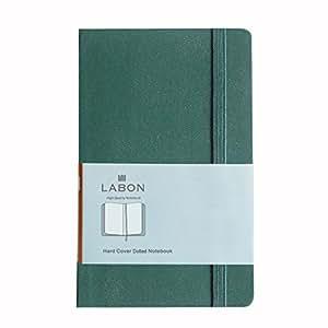 ラボンス A5 ノート クラシック ハード面のノート ドット方眼 濃い緑色