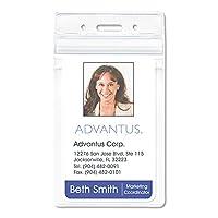 Advantus Corp. バッジホルダー PVCフリー VRTCL 50個パック クリア