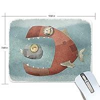 マウスパッド 船 魚 面白い 光学式マウス対応 防水 滑り止め生地 ゴム製裏面 軽量 耐久性 携帯便利 ノートパソコン用 オフィス用 快適 プレゼント