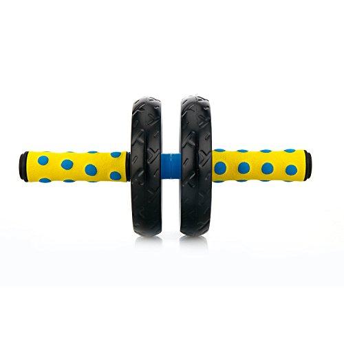 Soomloom アブホイール エクササイズウィル スリムトレーナー 超静音 腹筋ローラー エクササイズローラー 膝を保護するマット付き (ブルー)