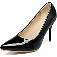 IDIFU Women's Classic Pointed Toe High Stiletto Heels Low Top Slip On Pumps Club Shoes