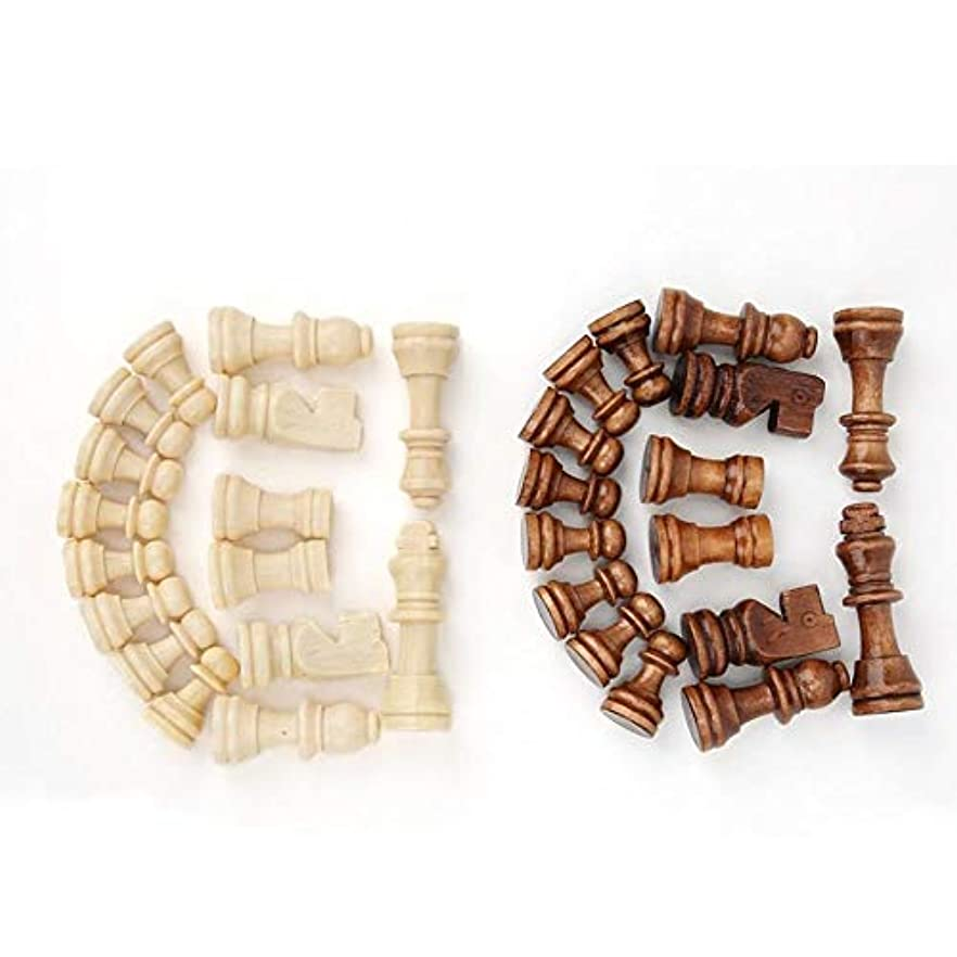 文法誇張遊具チェスギフトインタラクティブ玩具エンターテイメントチェスゲームなし折り畳み式32pcs木製国際チェスゲームセット、木製の小品 (Color : Type B)