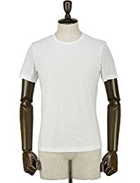 GIRELLI BRUNI ジレッリブルーニ メンズ コットン クルーネック 半袖 Tシャツ G656CB WHITE (ホワイト)