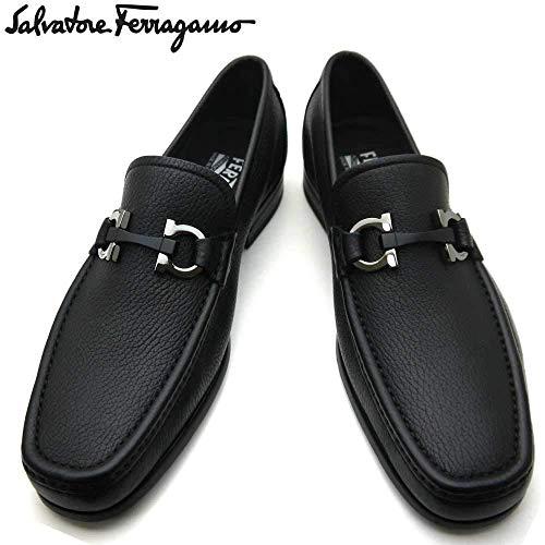フェラガモ/Salvatore Ferragamo メンズ ローファー ビジネスシューズ 靴 モカシン ガンチーニ GRANDIOSO 0642848 NERO ブラック[並行輸入品]