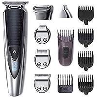 [(ハットテーカー) HATTEKER ] [HATTEKER ヘアトリマー Hair Trimmer Beard Trimmer Kit For Men Cordless Mustache Trimmer Body Groomer Kit Waterproof USB Rechargeable 5 In 1] (並行輸入品)