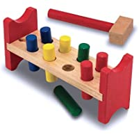 Melissa & Doug Deluxe Wooden Pound-A-Peg Toy With Hammer [並行輸入品]
