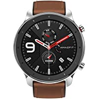 Amazfit GTR 47mm - Stainless Steel - Smartwatch with GPS+GLONASS, All-Day Heart Rate Monitor, Activity Tracker, 24-Day Battery Life, 12-Sport Modes