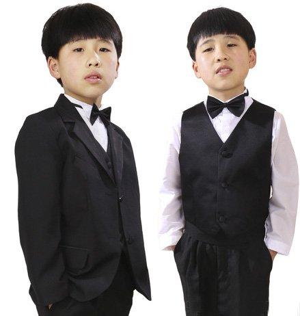 大人の階段登る 子供用 スーツ タキシード セット 身長90cm - 150cm サイズ有り a255e (身長 130cm 用)