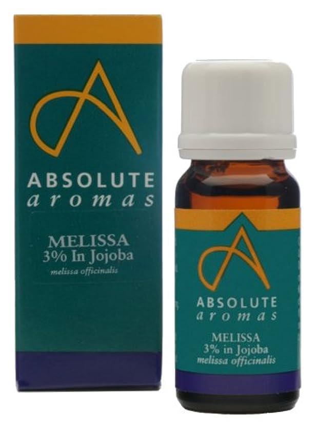 アラブサラボ流用する長方形Absolute Aromas Melissa 3% in Jojoba 10ml / ???10???????????????3?
