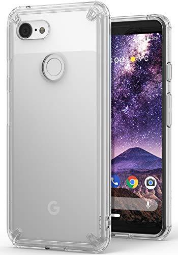 Google Pixel 3 ケース 対応 Ringke [Fusion] クリア 透明 落下防止 ストラップホール スマホケース [米軍MIL規格取得] TPU PC 二重構造 吸収耐衝撃カバー [Qi 充電 対応 (Clear/クリア)