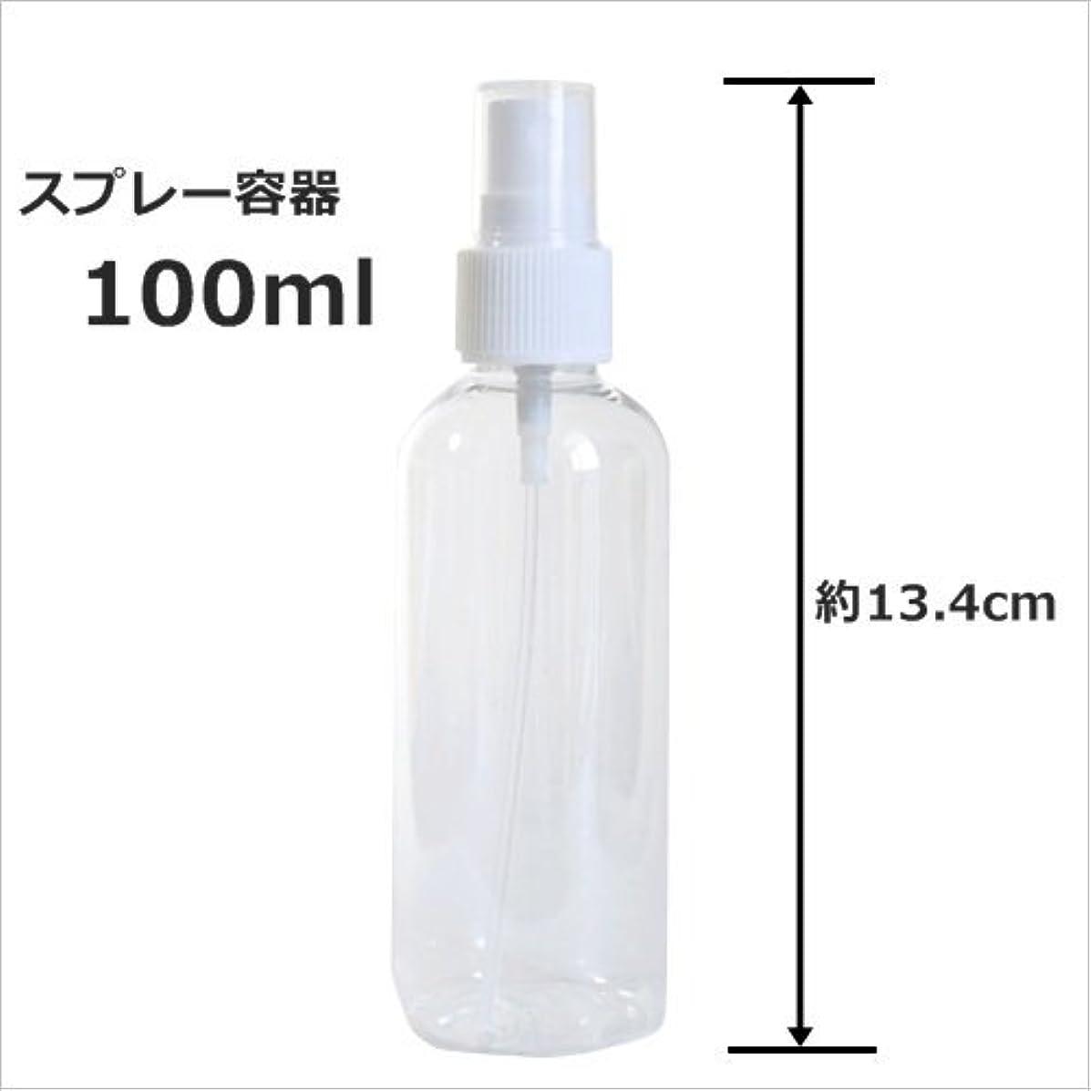 スプレーボトル 100ml プラスチック容器 happy fountain