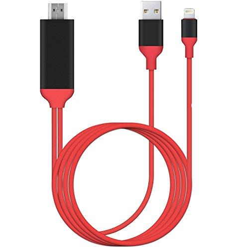 ERUN 【最新バージョン】 Lightning to HDMI変換 ケーブル 設定不要 プラグアンドプレイ 8pin 1080P高解像度 大画面 高画質 ゲーム/映画/写真などに適用 iphone/ipad/ipodに対応 ライトニングアダプタケーブル